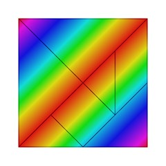 Background Diagonal Refraction Acrylic Tangram Puzzle (6  X 6 )