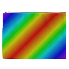 Background Diagonal Refraction Cosmetic Bag (xxl)