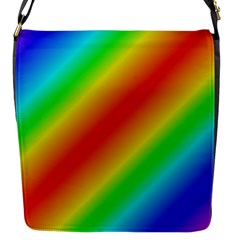 Background Diagonal Refraction Flap Messenger Bag (s)