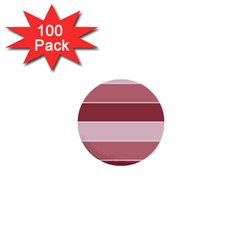 Striped Shapes Wide Stripes Horizontal Geometric 1  Mini Buttons (100 Pack)