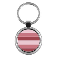 Striped Shapes Wide Stripes Horizontal Geometric Key Chains (round)