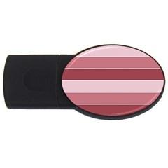 Striped Shapes Wide Stripes Horizontal Geometric Usb Flash Drive Oval (2 Gb)