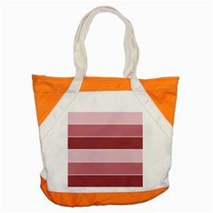 Striped Shapes Wide Stripes Horizontal Geometric Accent Tote Bag