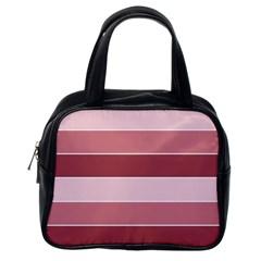 Striped Shapes Wide Stripes Horizontal Geometric Classic Handbags (one Side)