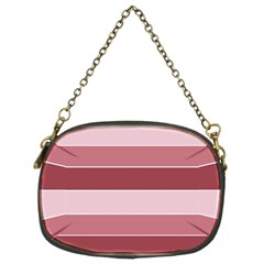 Striped Shapes Wide Stripes Horizontal Geometric Chain Purses (two Sides)
