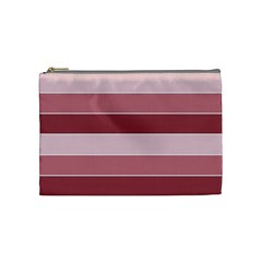 Striped Shapes Wide Stripes Horizontal Geometric Cosmetic Bag (medium)