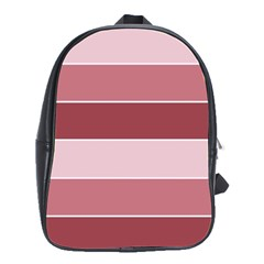 Striped Shapes Wide Stripes Horizontal Geometric School Bag (large) by Nexatart
