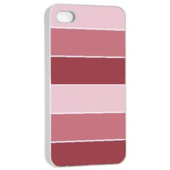 Striped Shapes Wide Stripes Horizontal Geometric Apple Iphone 4/4s Seamless Case (white)