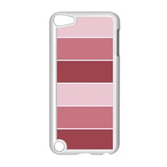 Striped Shapes Wide Stripes Horizontal Geometric Apple Ipod Touch 5 Case (white)
