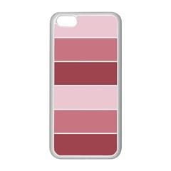 Striped Shapes Wide Stripes Horizontal Geometric Apple Iphone 5c Seamless Case (white)