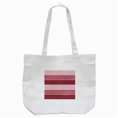 Striped Shapes Wide Stripes Horizontal Geometric Tote Bag (white)