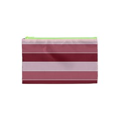 Striped Shapes Wide Stripes Horizontal Geometric Cosmetic Bag (xs)