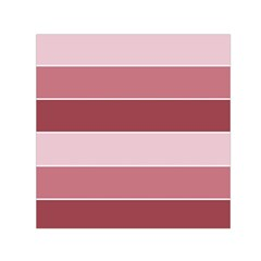 Striped Shapes Wide Stripes Horizontal Geometric Small Satin Scarf (square)