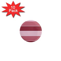 Striped Shapes Wide Stripes Horizontal Geometric 1  Mini Magnet (10 Pack)