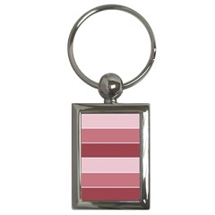 Striped Shapes Wide Stripes Horizontal Geometric Key Chains (rectangle)