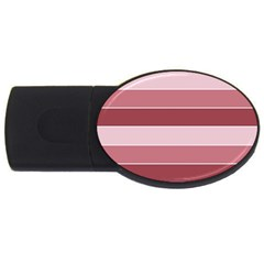 Striped Shapes Wide Stripes Horizontal Geometric Usb Flash Drive Oval (2 Gb)