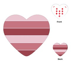 Striped Shapes Wide Stripes Horizontal Geometric Playing Cards (heart)