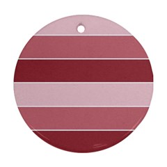 Striped Shapes Wide Stripes Horizontal Geometric Round Ornament (two Sides)
