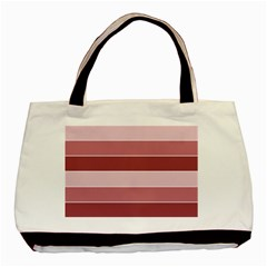 Striped Shapes Wide Stripes Horizontal Geometric Basic Tote Bag (two Sides)