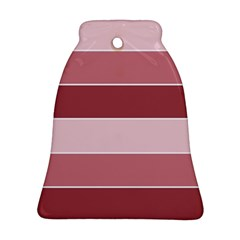 Striped Shapes Wide Stripes Horizontal Geometric Bell Ornament (two Sides)