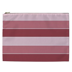 Striped Shapes Wide Stripes Horizontal Geometric Cosmetic Bag (xxl)