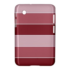 Striped Shapes Wide Stripes Horizontal Geometric Samsung Galaxy Tab 2 (7 ) P3100 Hardshell Case