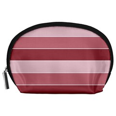 Striped Shapes Wide Stripes Horizontal Geometric Accessory Pouches (large)