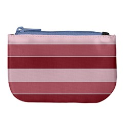 Striped Shapes Wide Stripes Horizontal Geometric Large Coin Purse