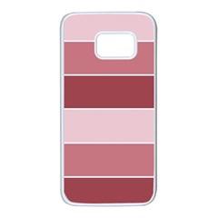 Striped Shapes Wide Stripes Horizontal Geometric Samsung Galaxy S7 White Seamless Case