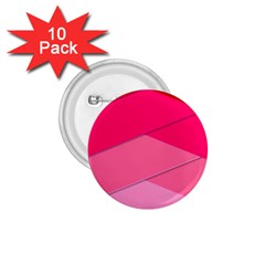 Geometric Shapes Magenta Pink Rose 1 75  Buttons (10 Pack) by Nexatart