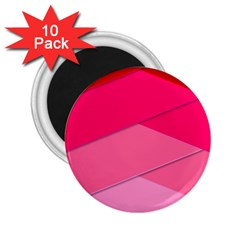 Geometric Shapes Magenta Pink Rose 2 25  Magnets (10 Pack)