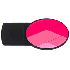 Geometric Shapes Magenta Pink Rose Usb Flash Drive Oval (4 Gb)