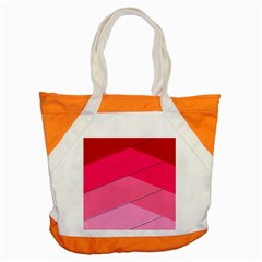 Geometric Shapes Magenta Pink Rose Accent Tote Bag