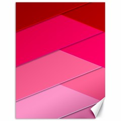 Geometric Shapes Magenta Pink Rose Canvas 18  X 24
