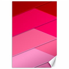 Geometric Shapes Magenta Pink Rose Canvas 24  X 36