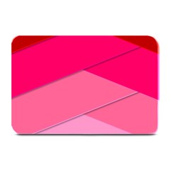 Geometric Shapes Magenta Pink Rose Plate Mats
