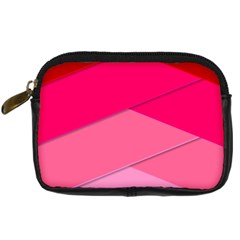 Geometric Shapes Magenta Pink Rose Digital Camera Cases by Nexatart