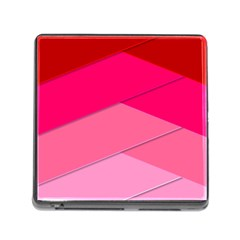 Geometric Shapes Magenta Pink Rose Memory Card Reader (square)