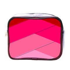 Geometric Shapes Magenta Pink Rose Mini Toiletries Bags