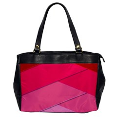 Geometric Shapes Magenta Pink Rose Office Handbags