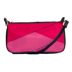 Geometric Shapes Magenta Pink Rose Shoulder Clutch Bags