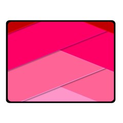 Geometric Shapes Magenta Pink Rose Fleece Blanket (small) by Nexatart