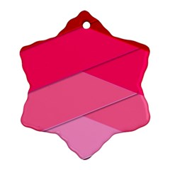 Geometric Shapes Magenta Pink Rose Snowflake Ornament (two Sides)