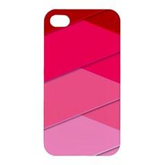 Geometric Shapes Magenta Pink Rose Apple Iphone 4/4s Hardshell Case