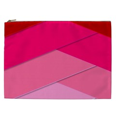 Geometric Shapes Magenta Pink Rose Cosmetic Bag (xxl)