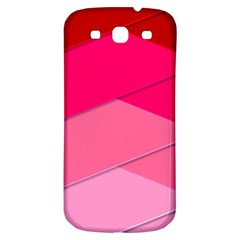 Geometric Shapes Magenta Pink Rose Samsung Galaxy S3 S Iii Classic Hardshell Back Case