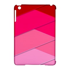 Geometric Shapes Magenta Pink Rose Apple Ipad Mini Hardshell Case (compatible With Smart Cover)