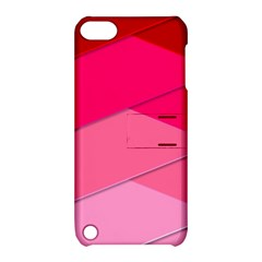 Geometric Shapes Magenta Pink Rose Apple Ipod Touch 5 Hardshell Case With Stand