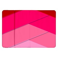 Geometric Shapes Magenta Pink Rose Samsung Galaxy Tab 8 9  P7300 Flip Case