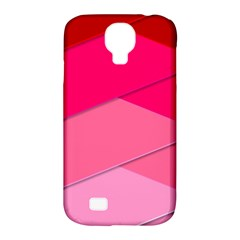 Geometric Shapes Magenta Pink Rose Samsung Galaxy S4 Classic Hardshell Case (pc+silicone)